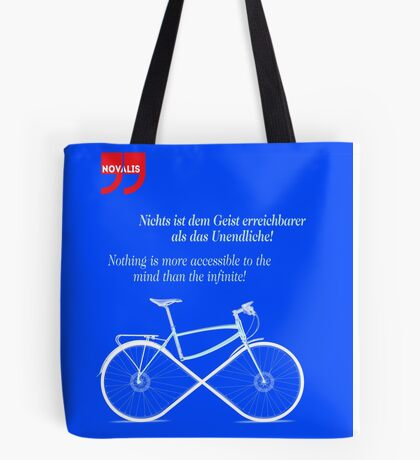 Ride To Infinity (quotation) Tote Bag