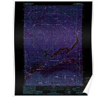 USGS Topo Map Oregon Blue River 279074 1989 24000 Inverted Poster