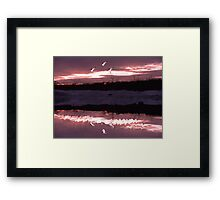 Reflection in The Water 2 Framed Print