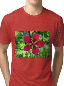 Big Red Flower Tri-blend T-Shirt