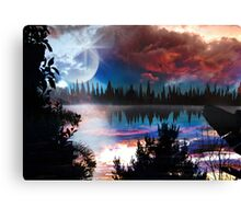 Behind The Silhouettes Canvas Print