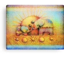 rainbow elephant blessing Canvas Print