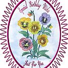 Pansies-Watercolour Birthday by judygal