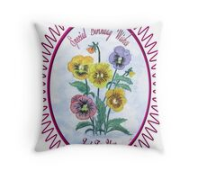 Pansies-Watercolour Birthday Throw Pillow