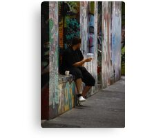 Watching 'Pink' go by ... Canvas Print