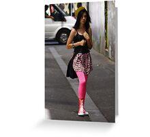 Jaunty Pink Greeting Card