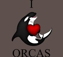 I Love Orcas Unisex T-Shirt
