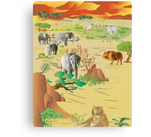 Africa in it's glory 1 Canvas Print