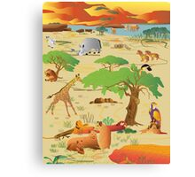 Africa in it's glory 2 Canvas Print