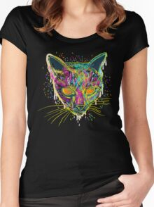 candy cat Women's Fitted Scoop T-Shirt