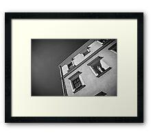 corner BW Framed Print
