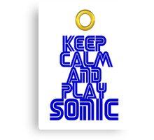 Sega Sonic Tshirt  Canvas Print