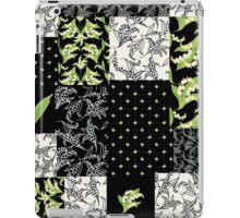 Lily-of-the-Valley Faux Patchwork Black iPad Case/Skin