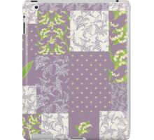Lily-of-the-Valley Faux Patchwork Mauve iPad Case/Skin