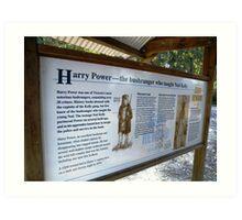 Harry Powers lookout Art Print