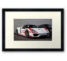 918 Spyder with Weissach Package Framed Print