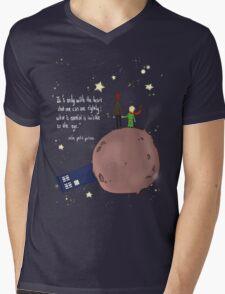 Doctor who meet a little prince Mens V-Neck T-Shirt