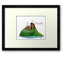 I Lava You Framed Print