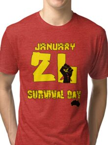 January 26 Survival Day Tri-blend T-Shirt