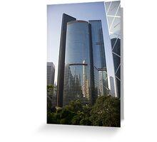 Hong Kong Skyscraper Reflections Greeting Card
