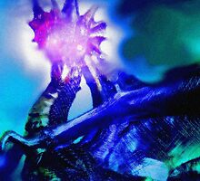 blue ice dragon by mindwalker13