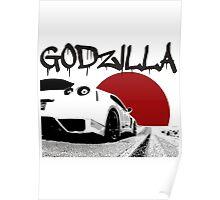 Nissan GTR Godzilla Japan Poster