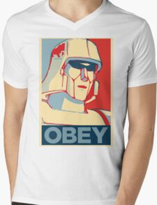 OBEY ! Mens V-Neck T-Shirt