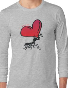 Ant Carrying the Love's Heart Long Sleeve T-Shirt