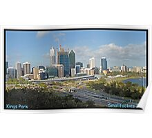 Perth City from Kings Park WA Poster