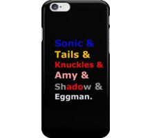 Sonic &Tails & .. iPhone Case/Skin