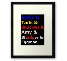 Sonic &Tails & .. Framed Print
