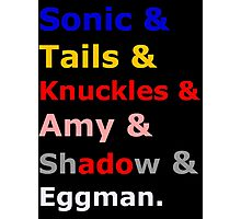 Sonic &Tails & .. Photographic Print