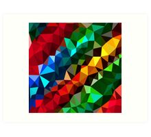 Abstract  multi colored Art Print