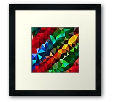 Abstract  multi colored Framed Print