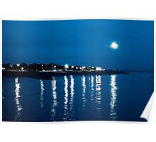 Southsea in Moonlight Poster