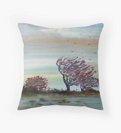 November Morn Throw Pillow