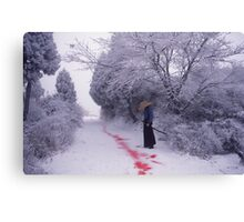 Blood Trail Canvas Print