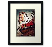 The R-R Lounge-Cross Processed Framed Print