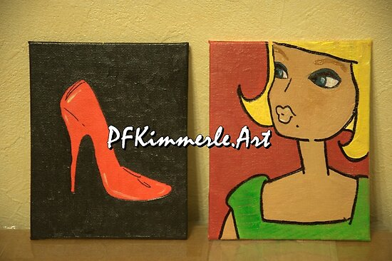 Barbie and Shoe PFKimmerle Art by Patricia Feaster-Kimmerle