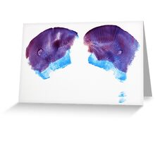 Buttprint Abstract Greeting Card