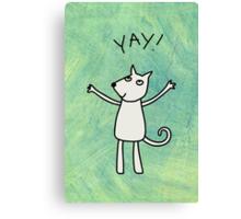 Yay! Canvas Print