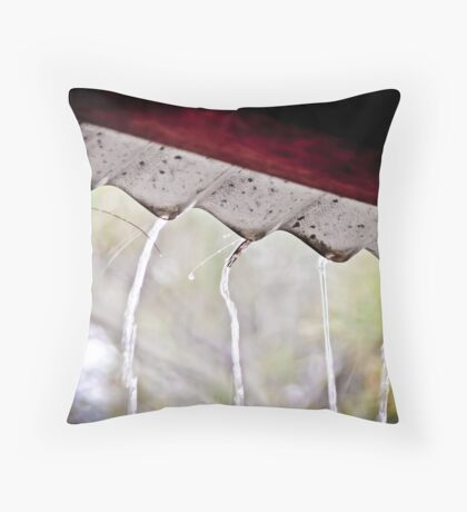 All Silent Save for the Dripping Rain Throw Pillow