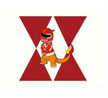 Red Ever Evolvin' PokeRanger Art Print