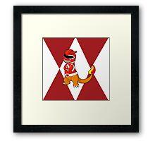 Red Ever Evolvin' PokeRanger Framed Print