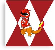Red Ever Evolvin' PokeRanger Canvas Print
