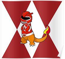 Red Ever Evolvin' PokeRanger Poster