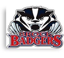 Brock Badger Logo Canvas Print