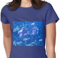 Violet Satin Reflections Womens Fitted T-Shirt