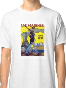 U.S. Marines -- Service On Land And Sea Classic T-Shirt