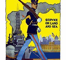 U.S. Marines -- Service On Land And Sea by warishellstore